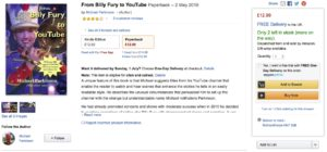 Screenshot of From Billy Fury to YouTube book listing on Amazon